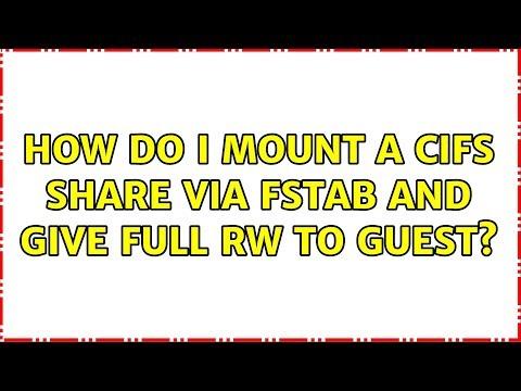 Ubuntu: How do I mount a CIFS share via FSTAB and give full