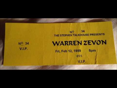 Warren Zevon Stephen Talkhouse Amagansett, NY February 12, 1999