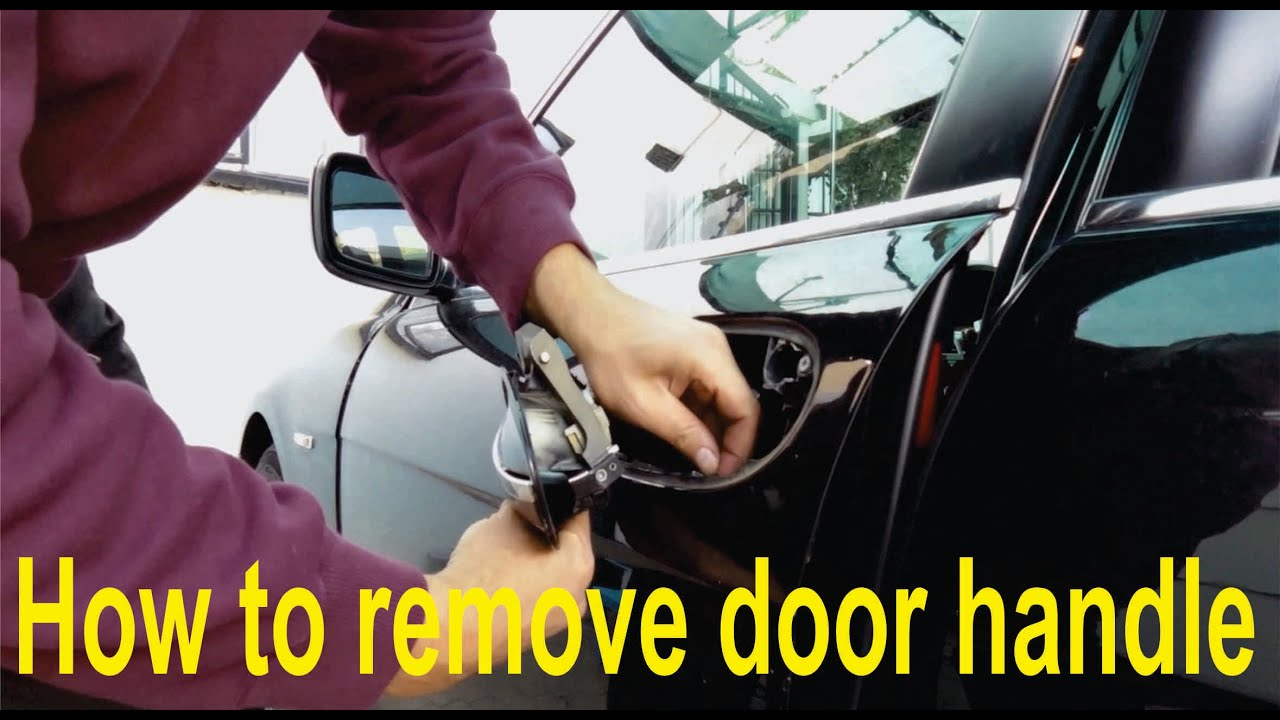 How To Remove A Door Handle From A Bmw E65 Youtube