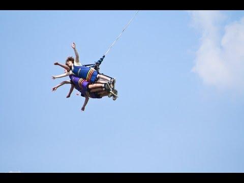 Xtreme Sky Flyer - Canada's Wonderland Amusement Ride - Toronto, Ontario, Canada 2016