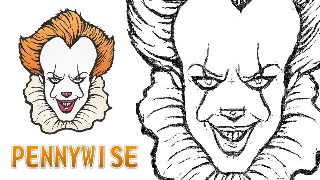 Coloriage Clown Ca.Comment Dessiner Le Clown Pennywise De Ca It