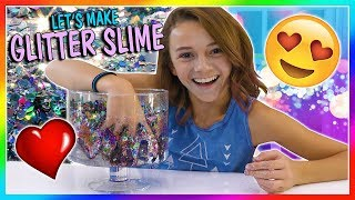 USING ALL OF MY GLITTER IN SLIME | We Are The Davises