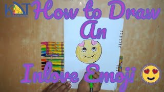 How to draw an inlove  emoji easily step by step for kids|Kids Drawing Tips| art lesson