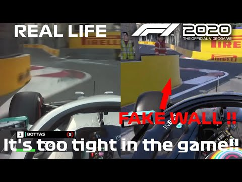 HOW REALISTIC is BAKU in the F1 2020 GAME?? The CASTLE SECTION is too tight in the GAME ?! |