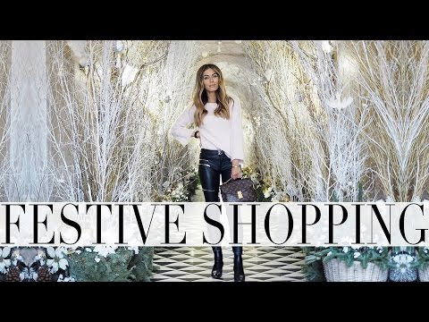 WHAT I WORE FESTIVE SHOPPING | Lydia Elise Millen