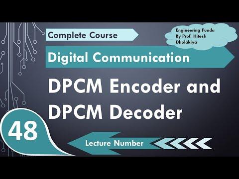 L-44 DPCM Encoder and DPCM Decoder or Differential Pulse Code Modulation  Encoder & Decoder