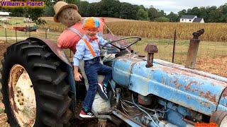 Blippi's fan- William at Warbington Farm n Tractors/Kids Play Fall Season