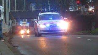 Politie begeleid 2 ambulance's vanaf ernstig ongeval Vierpolders naar Erasmus MC Rotterdam.