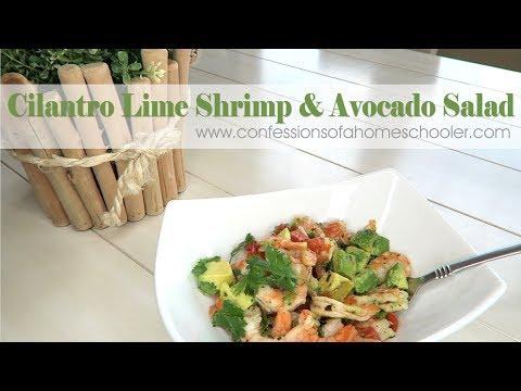 Easy Cilantro Lime Shrimp & Avocado Salad Recipe