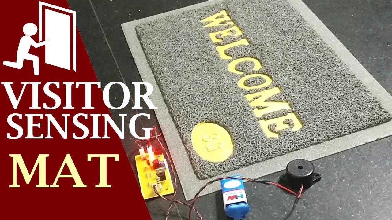 Peizo Based Visitor Sensing Welcome Mat