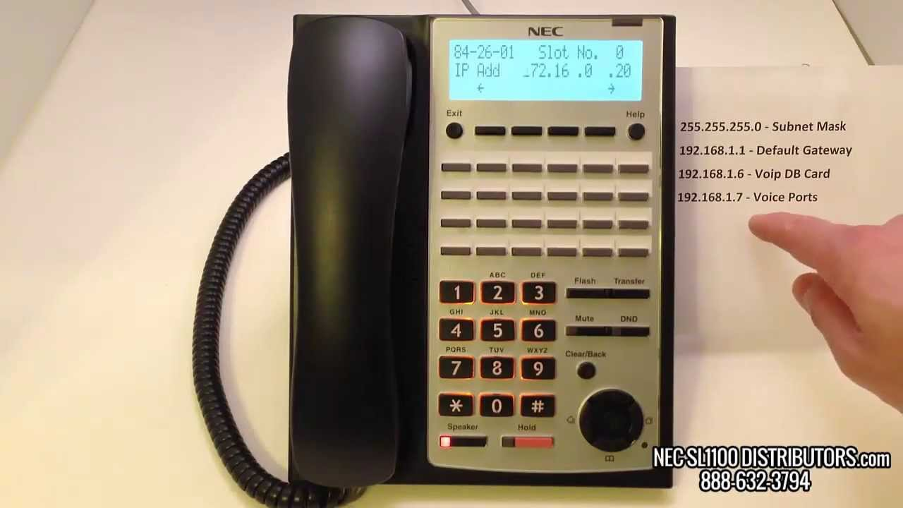 connecting an sl1100 to a network and assigning an ip address to the rh youtube com nec sl1100 phone system manual for voice mail nec sl1100 phone system manual for voice mail