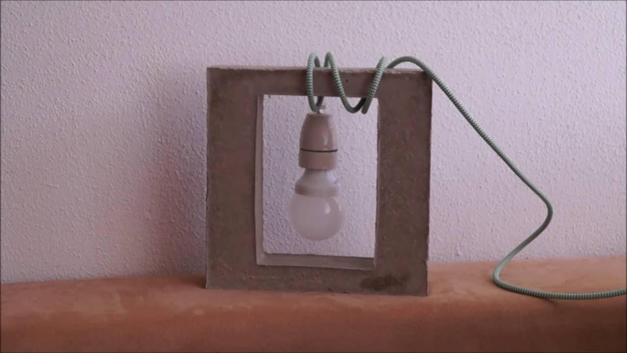 DIY Textilkabel Beton Lampe: Es werde Licht ... - YouTube