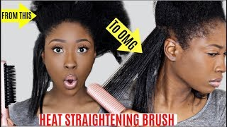 OMG FAST Hair Brush Straightener Comb on Natural THICK Curly Hair Review!