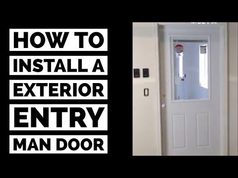 How To Install A Prehung Exterior Man Door DIY