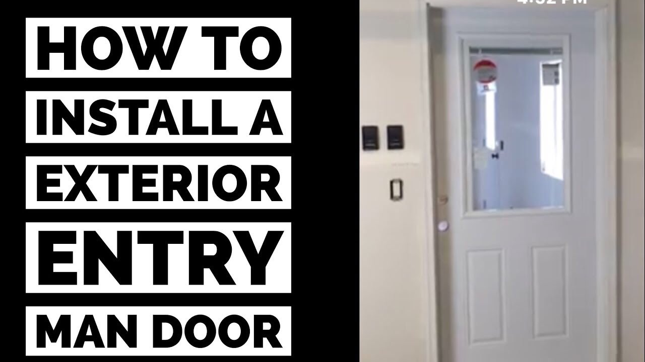 How To Install A Prehung Exterior Man Door Diy Youtube