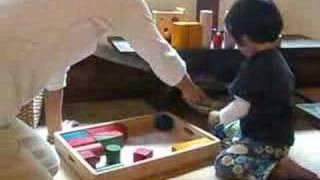 まみさんと積み木遊び 2008/04/30.