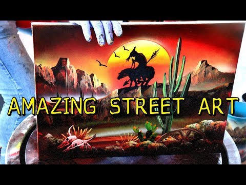 """SPRAY PAINT STREET ART – """"THE MEXICAN PICASSO"""""""