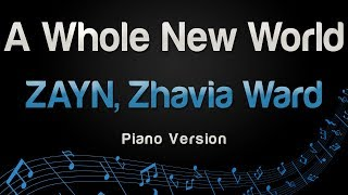 ZAYN, Zhavia Ward - A Whole New World (Piano Version)