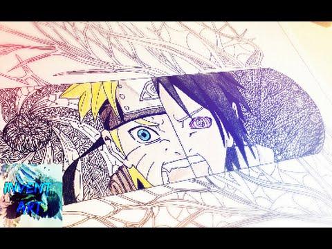 Cool Naruto And Sasuke Drawing Easy Youtube