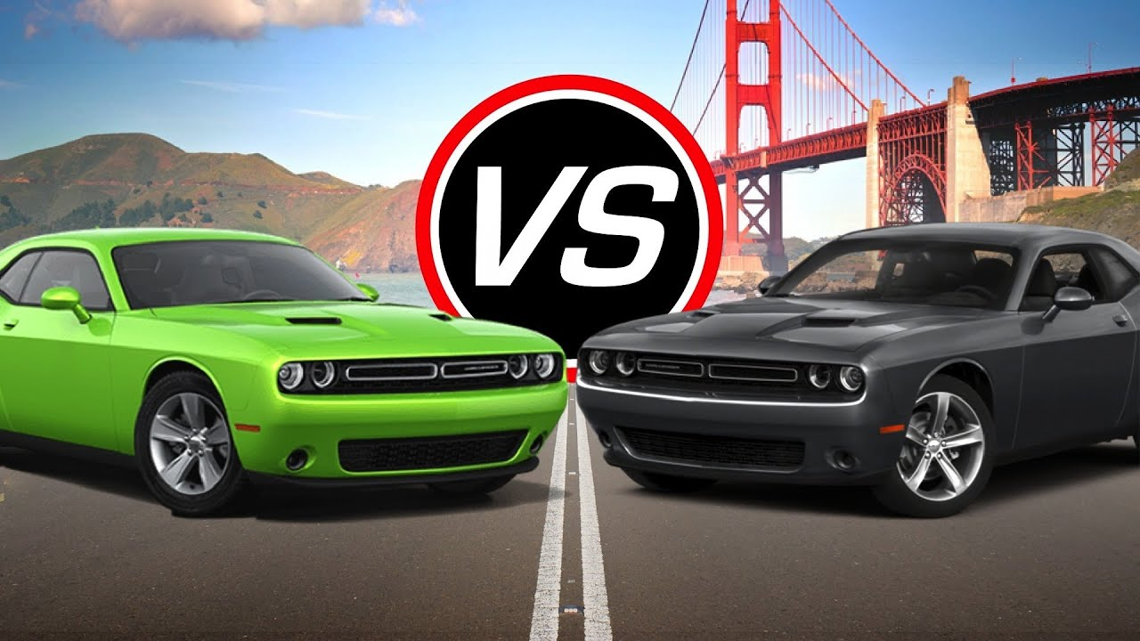 Dodge Challenger Vs Charger >> 2016 Dodge Challenger SXT vs Challenger R/T - Spec ...
