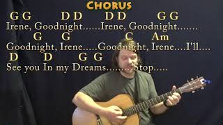 Goodnight, Irene (Traditional) Strum Guitar Cover Lesson in G with Chords/Lyrics