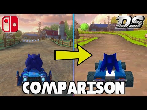 Mario Kart Ds Deluxe Switch Vs Ds Custom Track Comparison Youtube