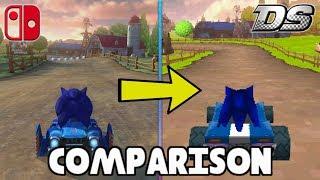 Mario Kart Ds Deluxe - Switch Vs. Ds Custom Track Comparison