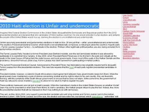 2010 Haiti election is Unfair and undemocratic