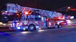 Elmwood Park NJ Fire Department Truck 4 Rescue 1 and Engine1 Responding on Market St Jan 17th 2019