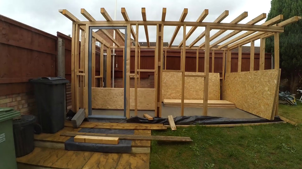 Building my garden office / workshop - in 7 minutes - YouTube