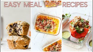 Today I'm sharing easy meal prep ideas that are gluten free and paleo-friendly (just sub in almond butter in the muffins and ditch the cotija :)). I'm linking to all the ...