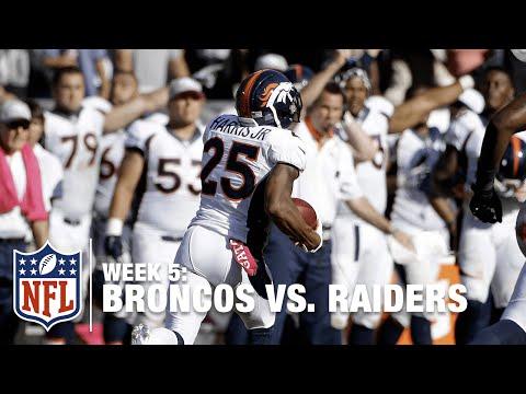 Chris Harris Jr. with a Beautiful 75-Yard PICK SIX! | Broncos vs. Raiders | NFL
