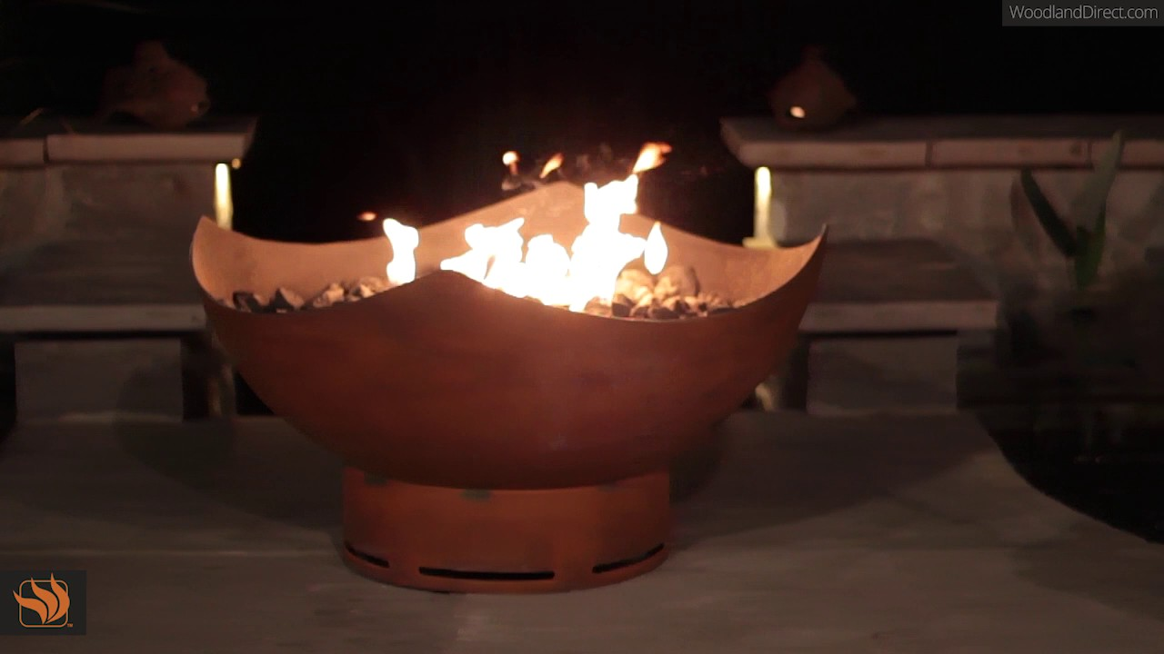 Manta Ray Gas Outdoor Fire Pit. Woodland Direct Inc - Manta Ray Gas Outdoor Fire Pit - YouTube