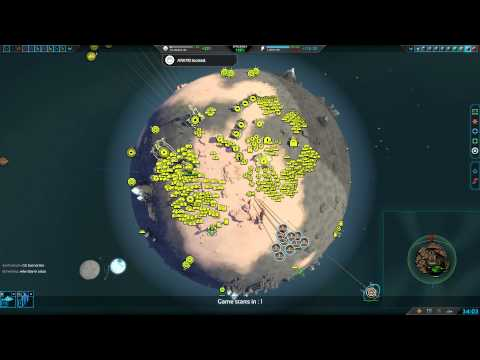 Planetary Annihilation 10 Player FFA : Heaping piles of planets