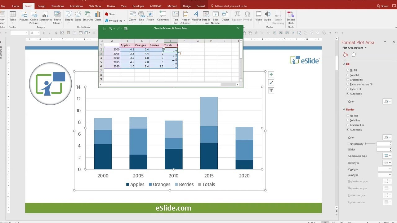 How to make a line and bar graph in excel 2020