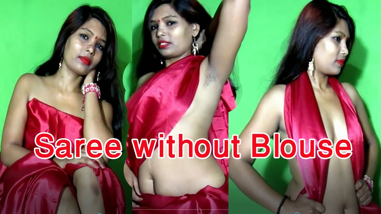 Download Saree photoshoot without Blouse