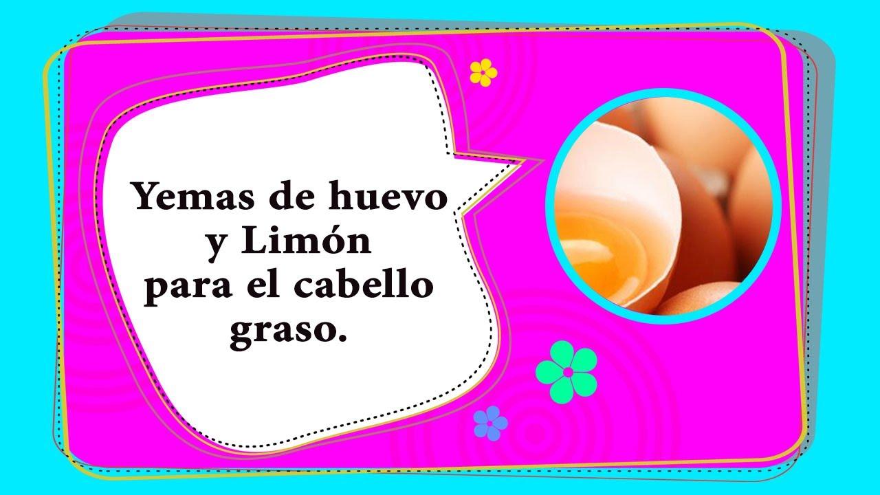 Yemas De Huevo Y Limón Para El Cabello Graso Recetas De Belleza Youtube
