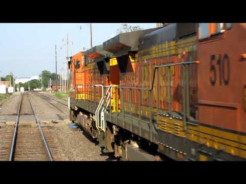 BNSF Train Horn at Midwestern Grade Crossing from Dover Harbor Private Rail Car