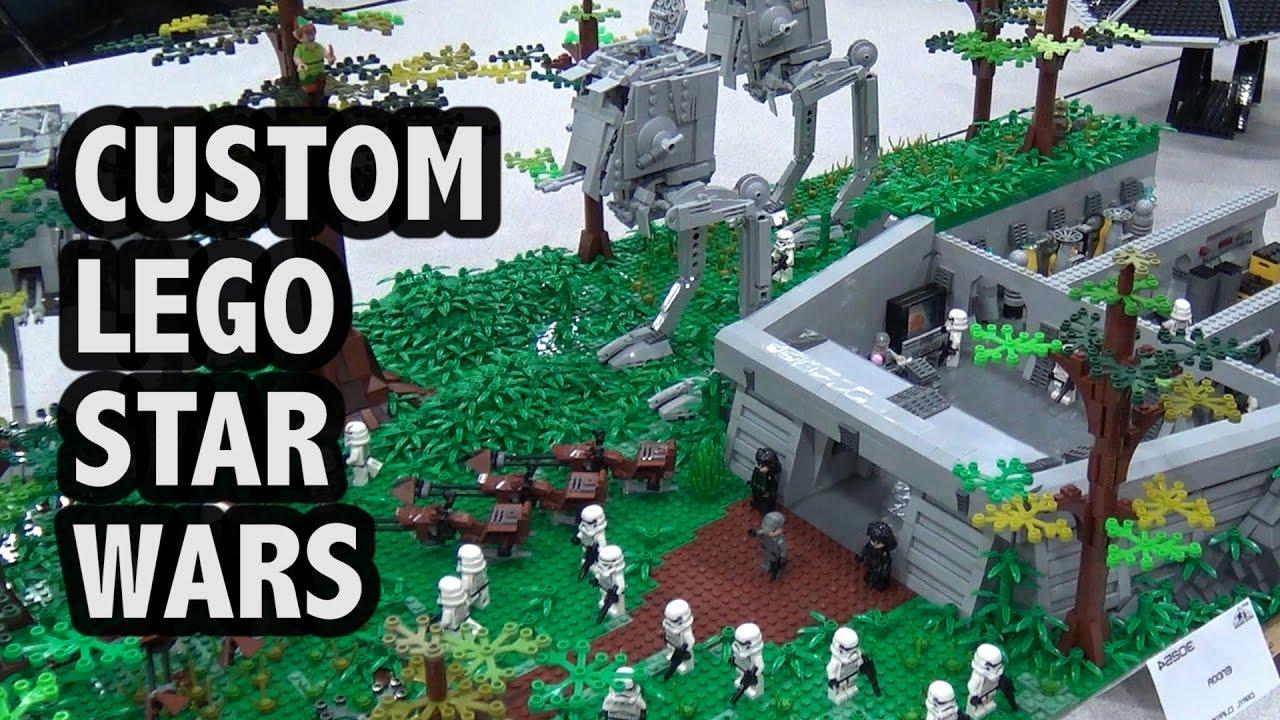 Lego Star Wars Endor Battle Bricks Cascade 2017 Youtube