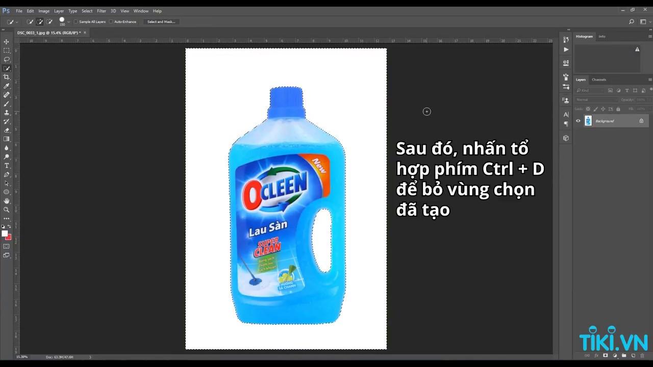 Hướng dẫn thay nền trắng cho hình ảnh sản phẩm bằng Photoshop cơ bản