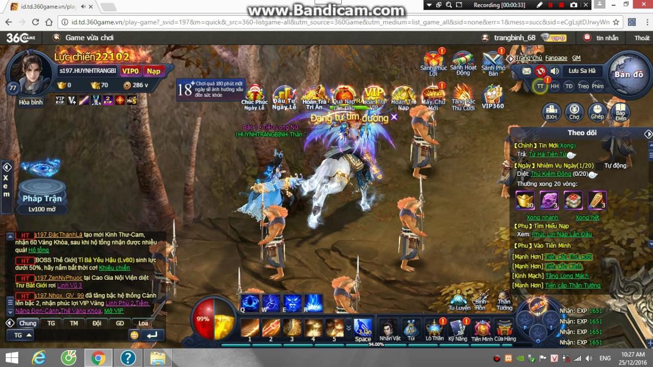 Game Thông Thiên Tây Du PC player HuynhTrangBinh