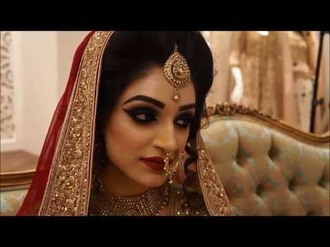 Pakistani Indian Bridal - Baraat & Valima makeup with smokey eye look