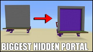 The Biggest Hidden Nether Portal in Minecraft Bedrock! (The Lag is Horrible)