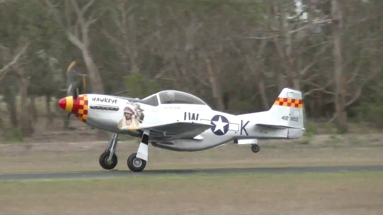 V8 Powered Stewart S-51 Mustang T51D Display Tyabb Airshow 2016