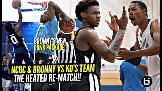 Bronny James DUNKS EVERYTHING Before HEATED RE-MATCH w/ Kevin Durant's Team!!