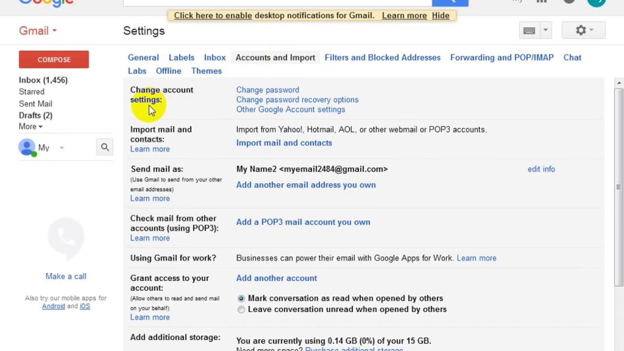 how to set gmail recovery