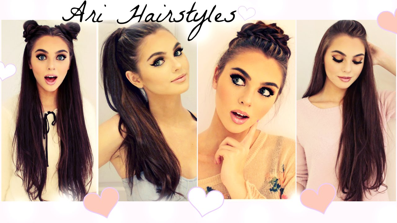 ariana grande hairstyles | easy & fast back to school looks - youtube