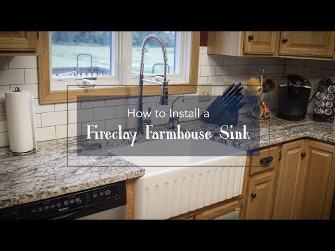 How To Install A Fireclay Farmhouse Sink