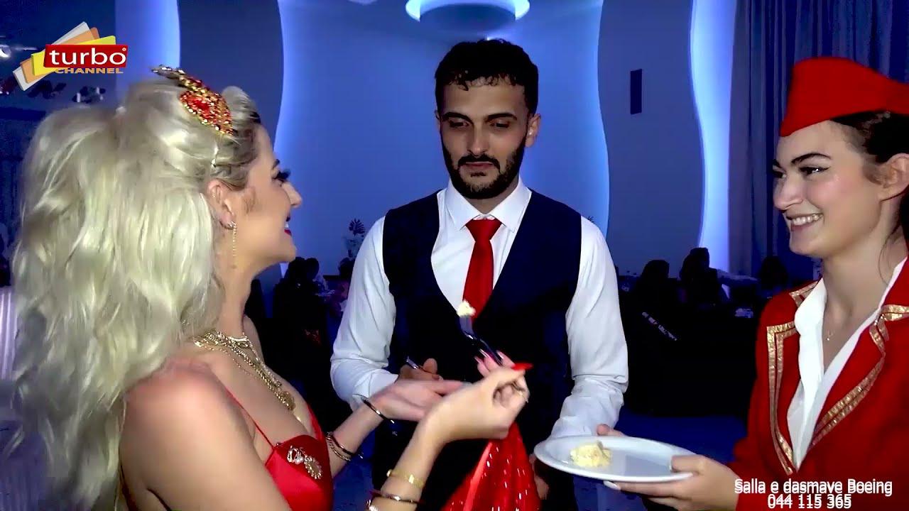 Stjuardesat e Boeing servojn torten   Dasma Shqiptare 2021 - Salla e dasmave - BOEING