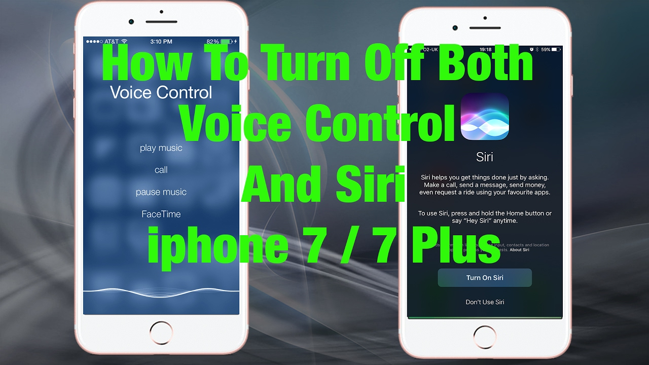 Iphone Voice Control >> Howto Turn Off Siri And Voice Control Completely Iphone 7 7 Plus